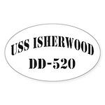 USS ISHERWOOD Sticker (Oval)