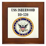 USS ISHERWOOD Framed Tile