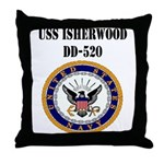 USS ISHERWOOD Throw Pillow