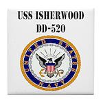 USS ISHERWOOD Tile Coaster