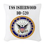 USS ISHERWOOD Woven Throw Pillow