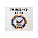 USS ISHERWOOD Throw Blanket