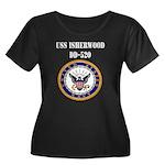 USS ISHE Women's Plus Size Scoop Neck Dark T-Shirt