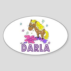 I Dream Of Ponies Darla Oval Sticker