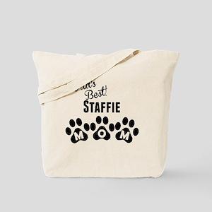 Worlds Best Staffie Mom Tote Bag