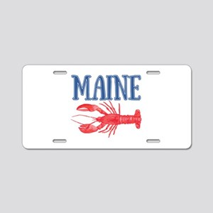 Maine Lobster Aluminum License Plate