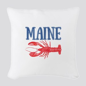 Maine Lobster Woven Throw Pillow