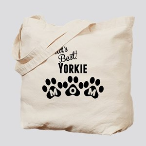 Worlds Best Yorkie Mom Tote Bag