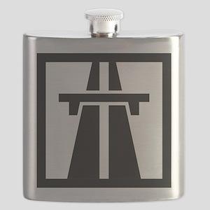 Motorway/Autobahn Symbol Flask