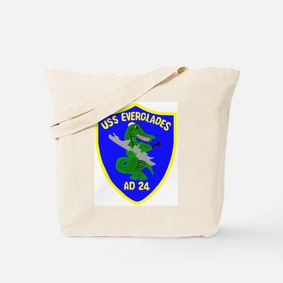 USS Everglades (AD 24) Tote Bag