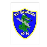 USS Everglades (AD 24) Postcards (Package of 8)