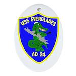 USS Everglades (AD 24) Oval Ornament