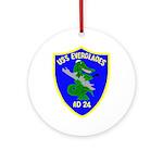 USS Everglades (AD 24) Ornament (Round)