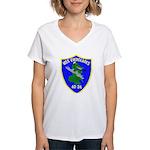 USS Everglades (AD 24) Women's V-Neck T-Shirt