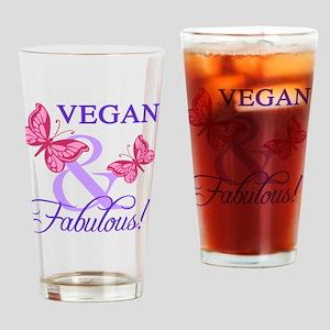 Vegan and Fabulous Drinking Glass