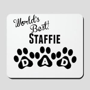Worlds Best Staffie Dad Mousepad