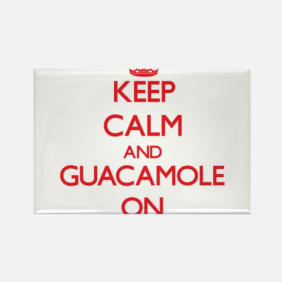 Keep Calm and Guacamole ON Magnets