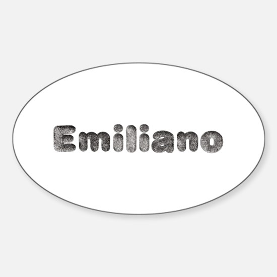 Emiliano Wolf Oval Decal