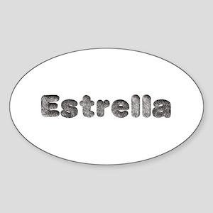 Estrella Wolf Oval Sticker
