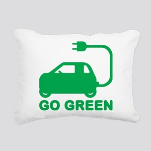 Go Green ~ Drive Electric Cars Rectangular Canvas