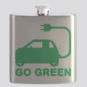 Go Green ~ Drive Electric Cars Flask