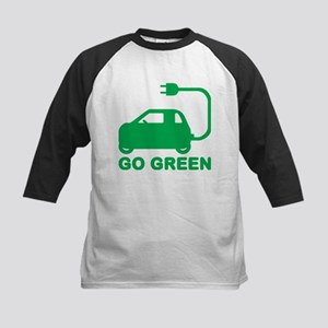 Go Green ~ Drive Electric Cars Baseball Jersey