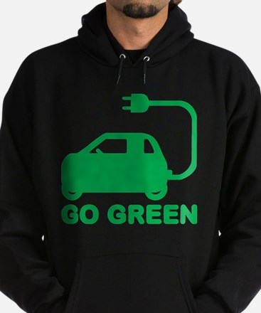 Go Green ~ Drive Electric Cars Hoody