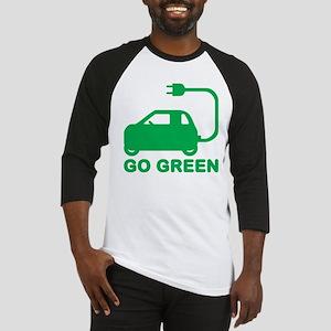 Go Green ~ Drive Electric Cars Baseball Jersey