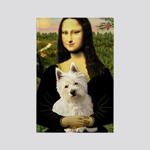 Mona Lisa & West Hightland Rectangle Magnet
