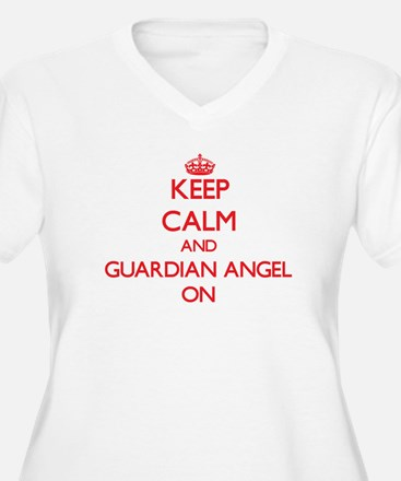 Keep Calm and Guardian Angel ON Plus Size T-Shirt