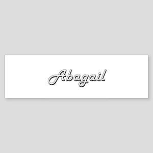 Abagail Classic Retro Name Design Bumper Sticker