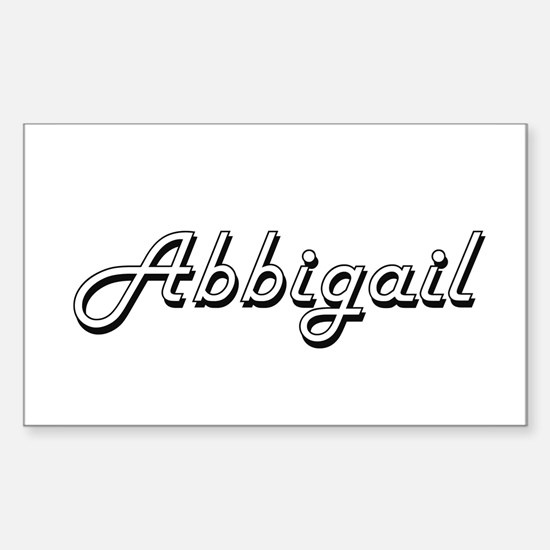 Abbigail Classic Retro Name Design Decal