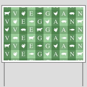 Vegan Animals Art Yard Sign