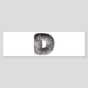D Wolf Bumper Sticker