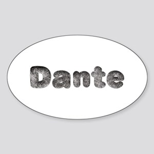 Dante Wolf Oval Sticker