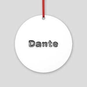 Dante Wolf Round Ornament