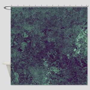Green Sea Strange Shower Curtain