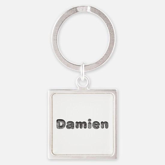 Damien Wolf Square Keychain