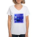 Egypt Blue Women's V-Neck T-Shirt