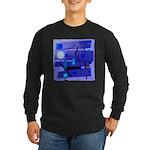 Egypt Blue Long Sleeve Dark T-Shirt