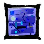 Egypt Blue Throw Pillow