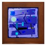 Egypt Blue Framed Tile