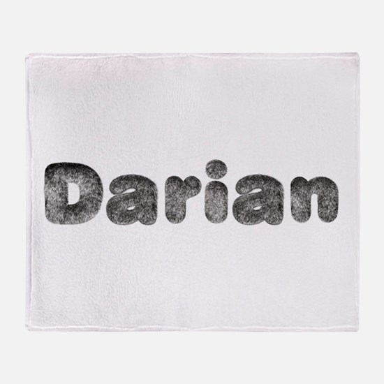 Darian Wolf Throw Blanket