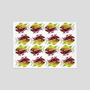 tuna pattern 3 5'x7'Area Rug