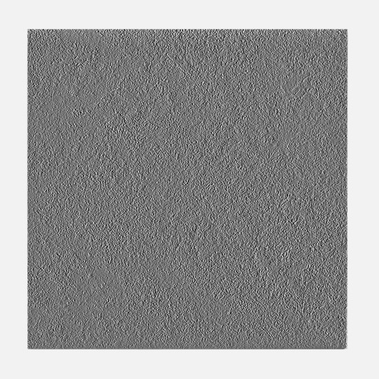 Greyscale Silvertone Concrete Tile Coaster