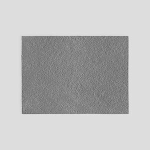 Greyscale Silvertone Concrete 5'x7'Area Rug