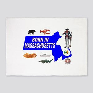 MASSACHUSETTS BORN 5'x7'Area Rug
