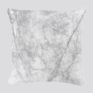 Icy Marble On Europa Woven Throw Pillow
