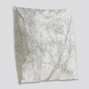 Icy Marble On Europa Burlap Throw Pillow