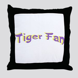 Tiger Fan Throw Pillow